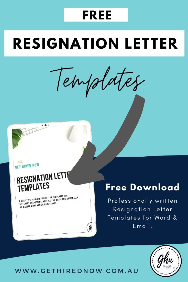 Get hired now free resignation letter templates land