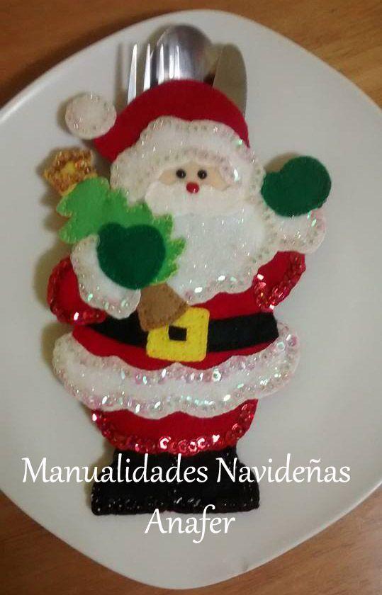Manualidades navide as anafer portacubiertos navide os for Navidad adornos manualidades navidenas