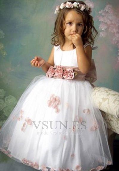Vestido+niña+ceremonia+Capa+de+tul+Joya+Corte+princesa+Cremallera+Bautizo+niña