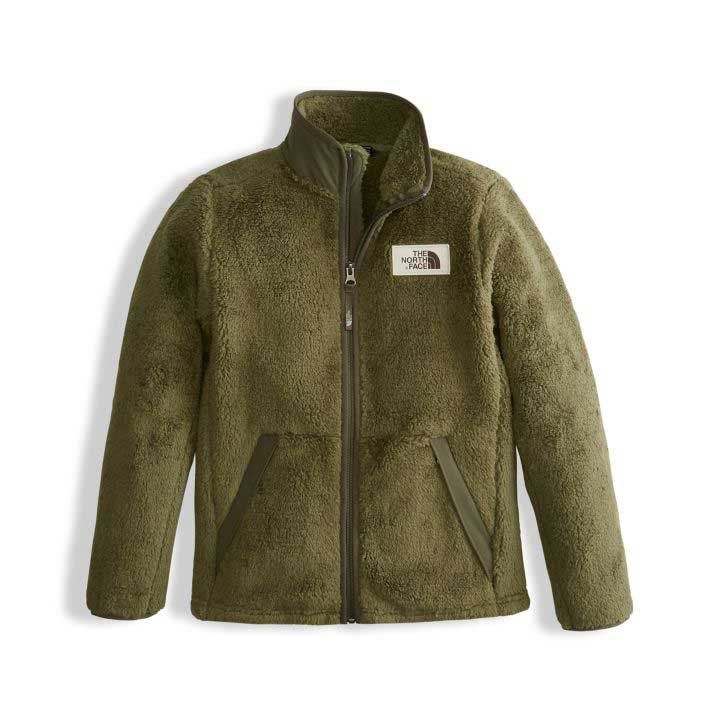 a2f90485be45 The North Face Campshire Full Zip Jacket in Burnt Olive Green for Boys  NF00A3CPR-OLV