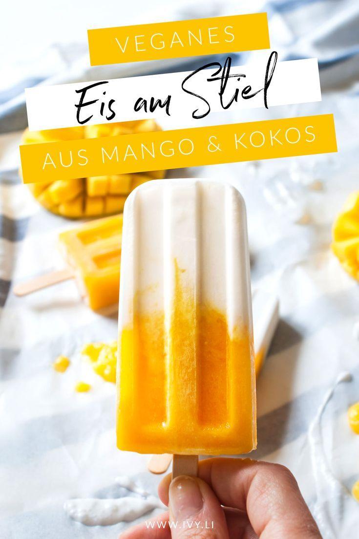 Paletas de coco con mango   - Blog    -