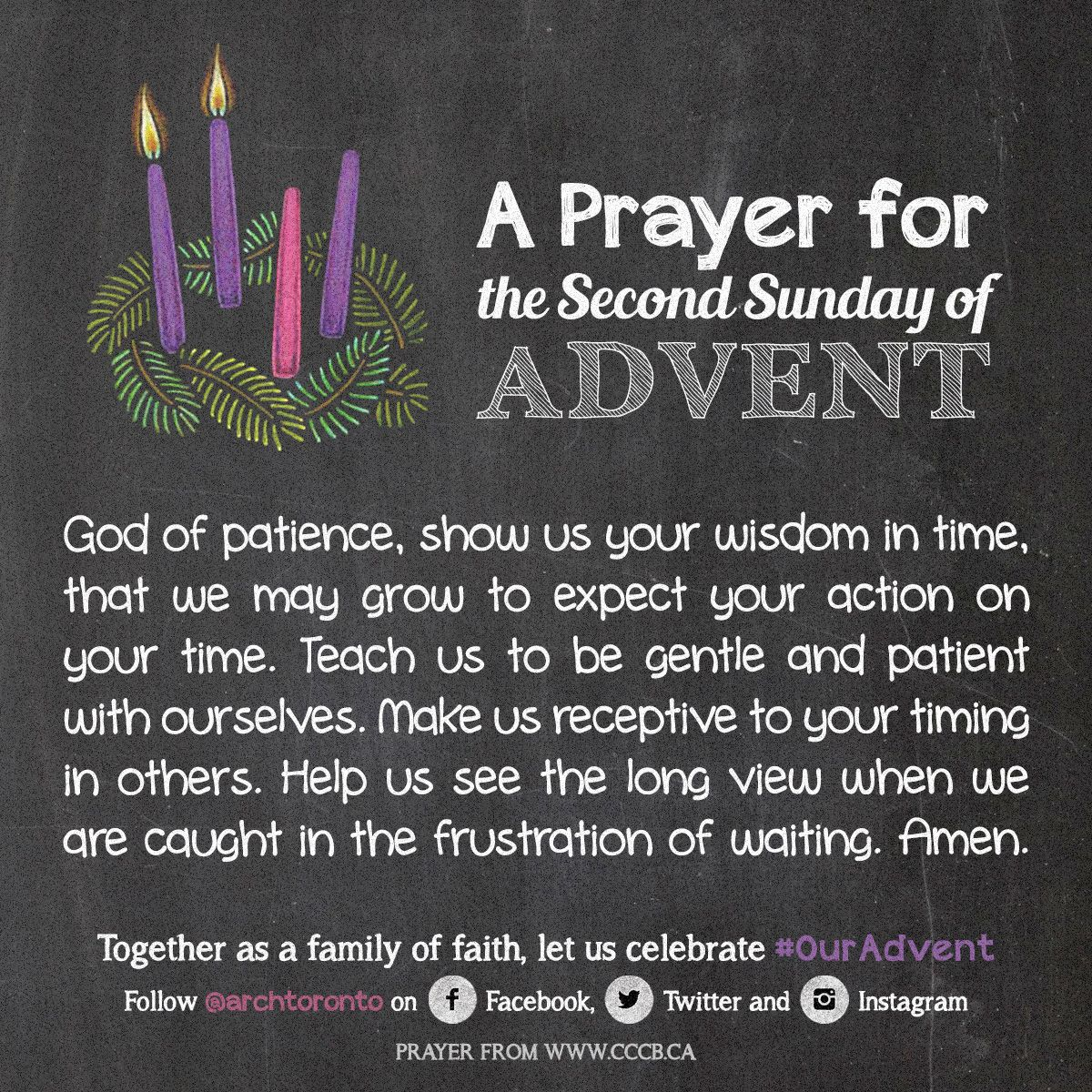prayer for the second sunday of advent ouradvent advent. Black Bedroom Furniture Sets. Home Design Ideas