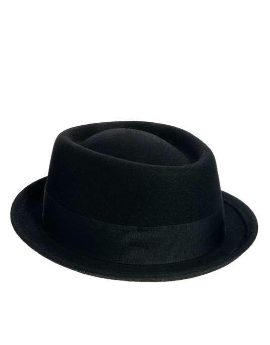 Sedancasesa Wool Fedora Hat Classic Black Trilby Winter Adult Hat Grosgrain Band