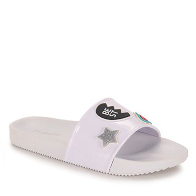 643b33d13 Chinelo Slide Feminino Zaxy Snap - Branco | melissa beach | Shoes ...