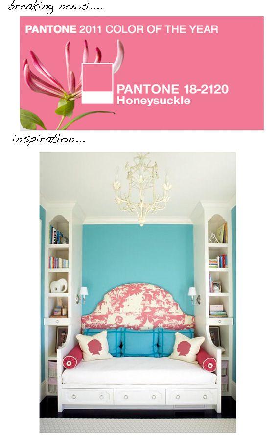 honeysuckle is pink | Pink room, Room