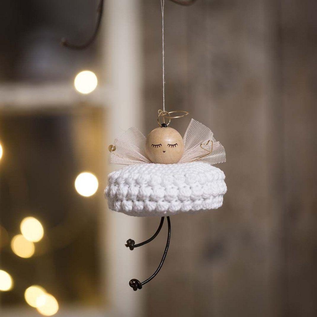 Hæklet engel i bomuldsgarn |DIY vejledning
