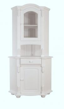 eckschrank eckvitrine baltic 101 kiefer massiv weiss k che. Black Bedroom Furniture Sets. Home Design Ideas