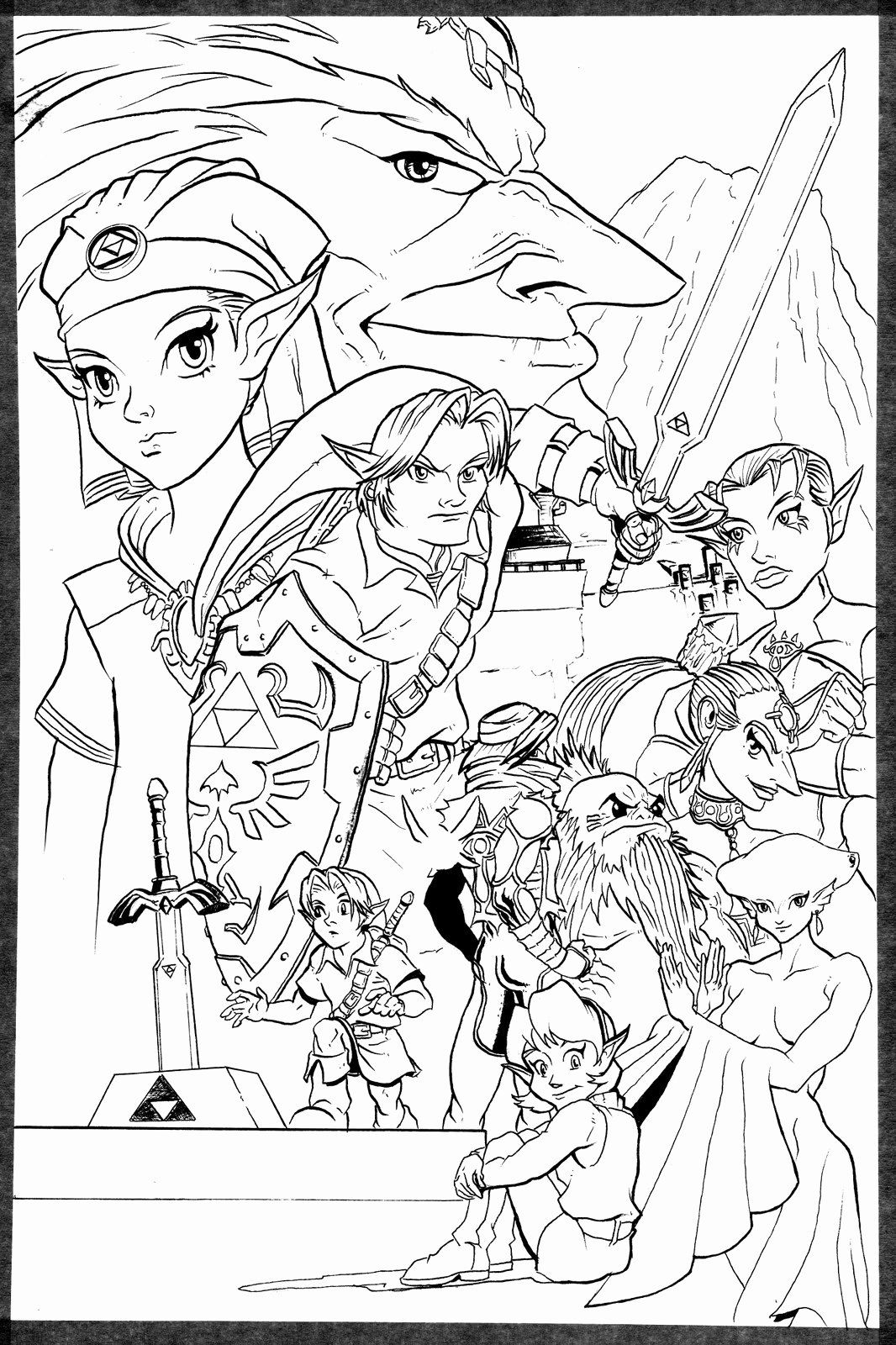 Legend Of Zelda Coloring Book Beautiful Adam B Carabet The Legend Of Zelda Ocarina Of Time Hello Kitty Colouring Pages Mermaid Coloring Book Cat Coloring Book