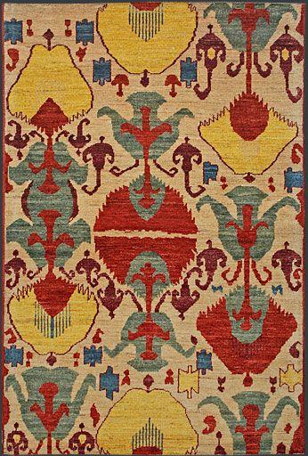 Afghan Ikat Oriental Rug 39610