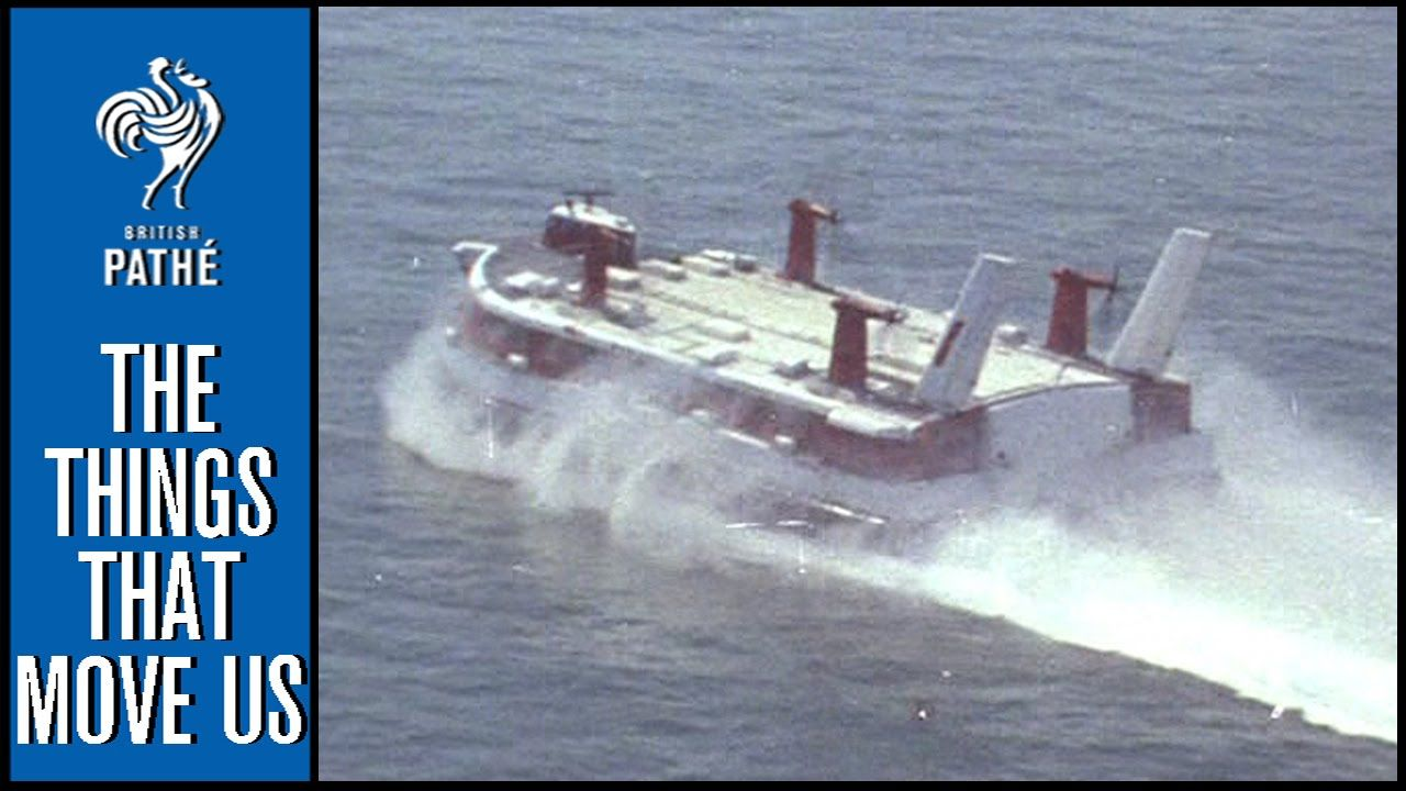 Hovercraft Over Channel 1959 British Pathe British Channel Fast Boats