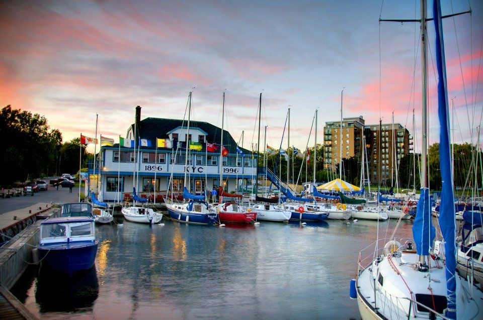 Kingston yacht club features a breathtaking view of the