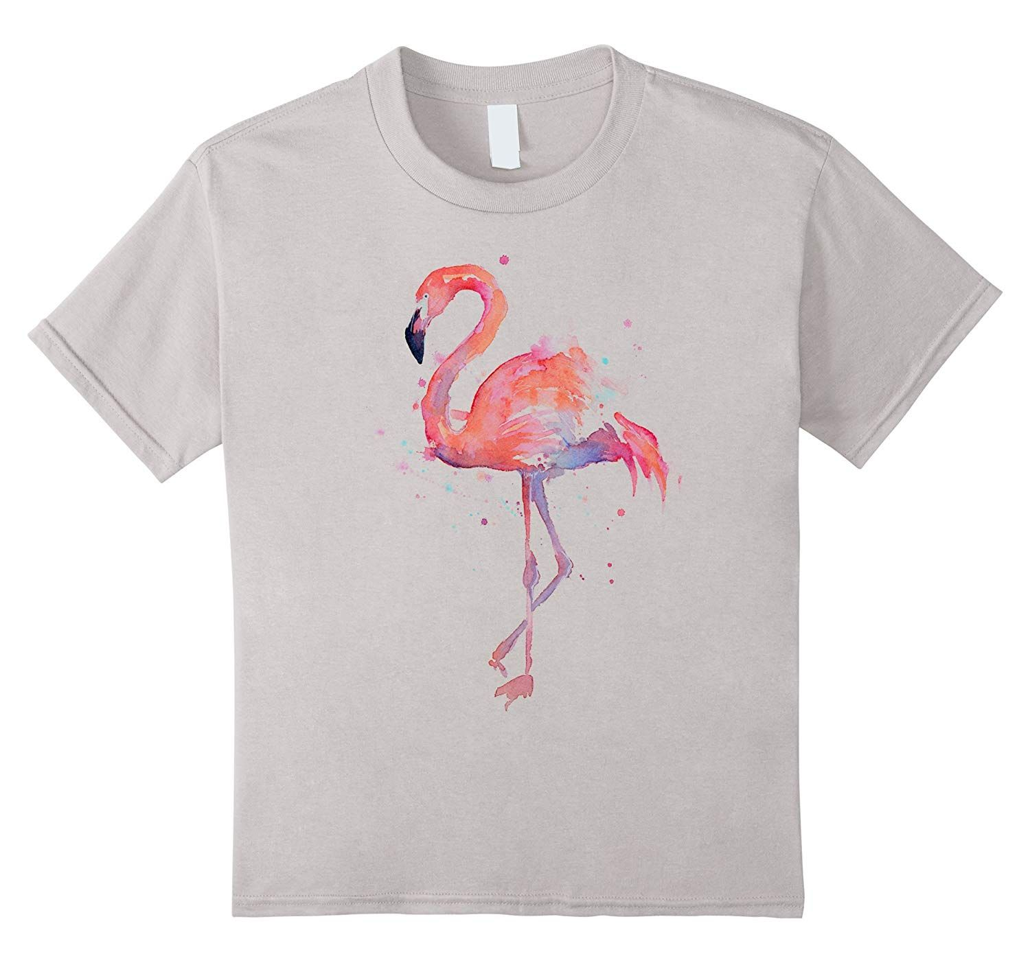 Womens Flamingo Watercolor T Shirt Medium Tovacu Flamingo Outfit