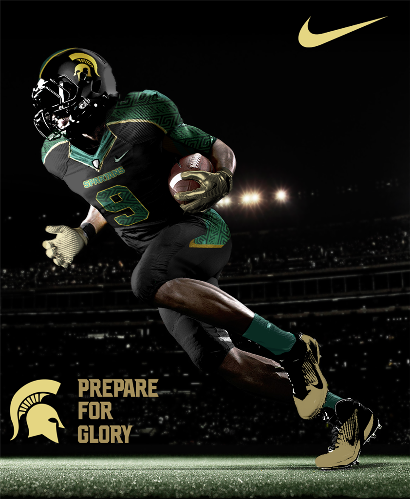 Michigan State Concept Uniforms Msu Spartans Football Michigan State Spartans Football Michigan State Spartans
