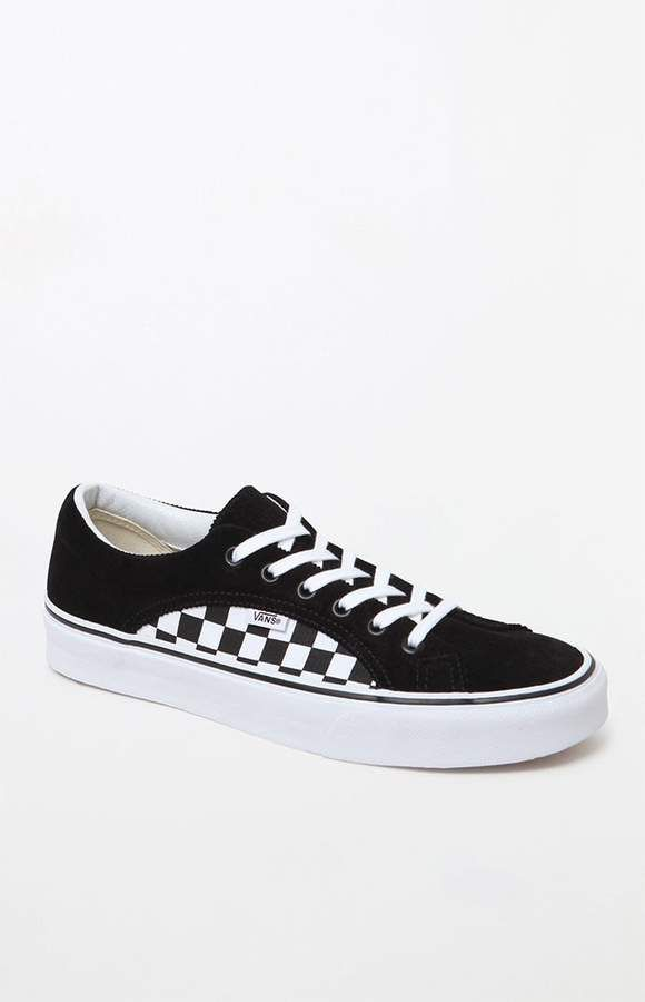 Vans Lampin Black   Checkerboard Shoes  5c3aab7b0