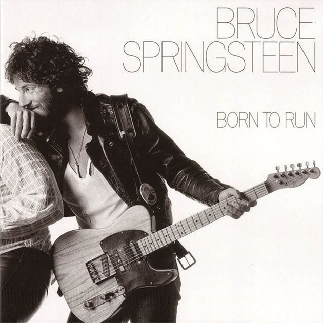"""""""Born to Run"""" Bruce Springsteen (Columbia, 1975). Photographer Eric Meola captures the bond between Bruce and The Big Man, rock and roll and soul, in beautiful black and white."""