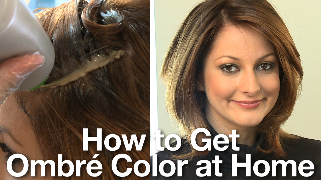 How To Color Hair At Home Ombre Hair Coloring Ombre Highlights