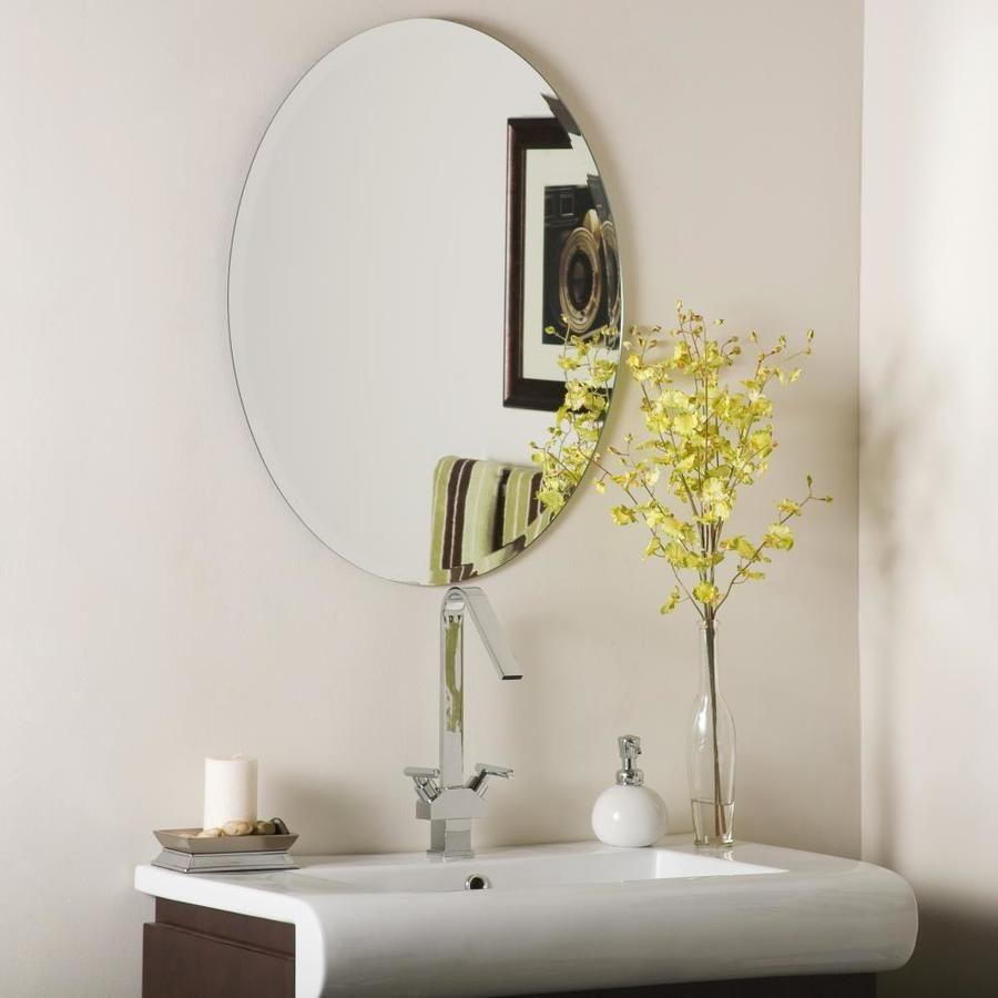 Decor Wonderland 22 In Oval Frameless Bathroom Mirror Lowes Com Mirror Wall Oval Mirror Bathroom Oval Wall Mirror [ 900 x 900 Pixel ]