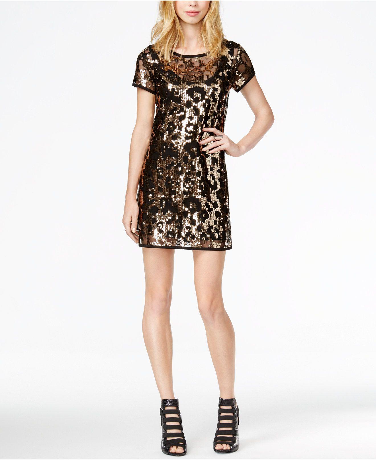 White leopard sequin dress