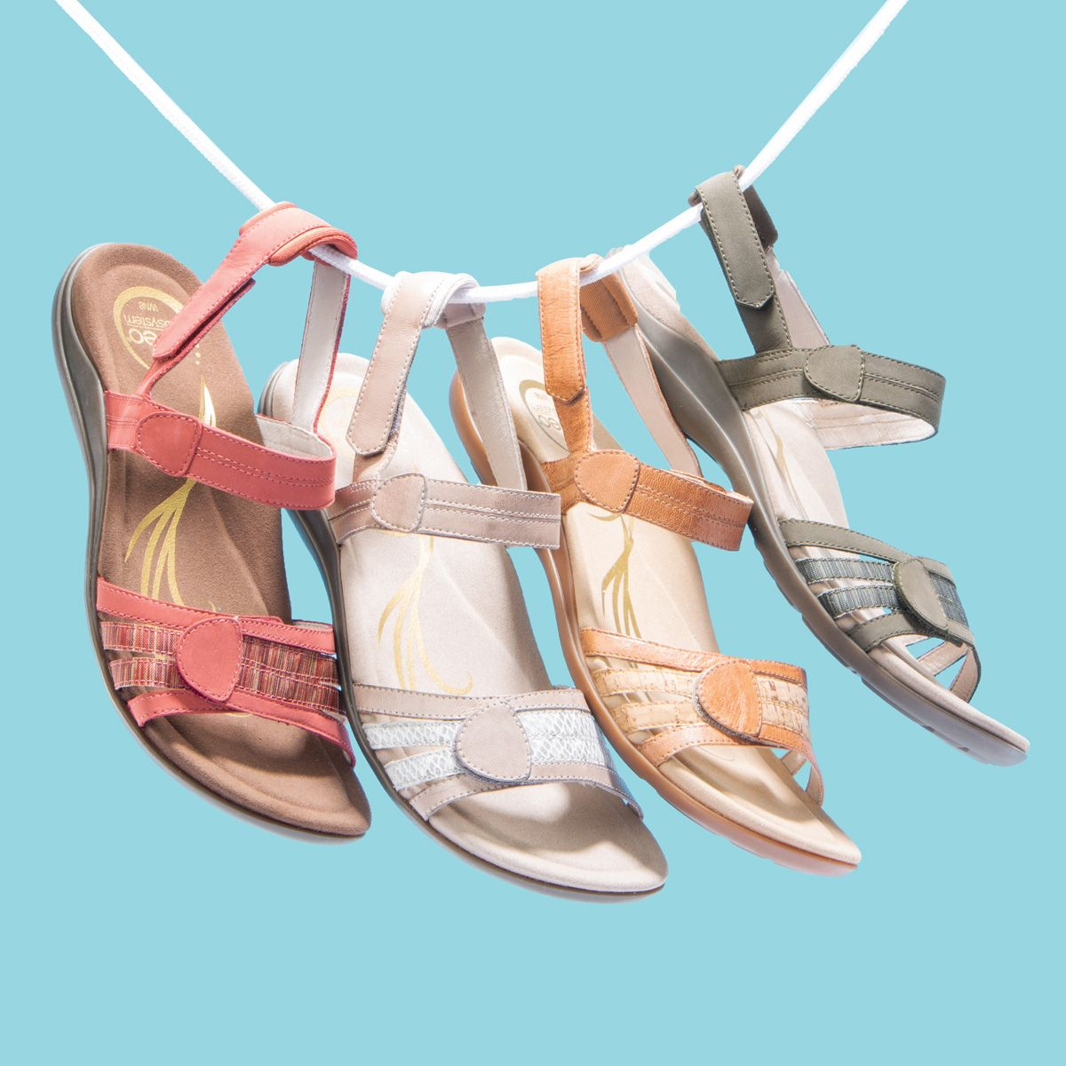Three Way Adjustable Straps Make The Abeo Brynn A Perfect Sandal Comfort Option Womens Sandals Sandals Comfortable Shoes