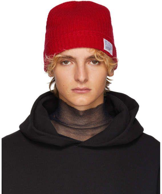 49cf2f40ecca3 Visvim Red Wool Knit Beanie