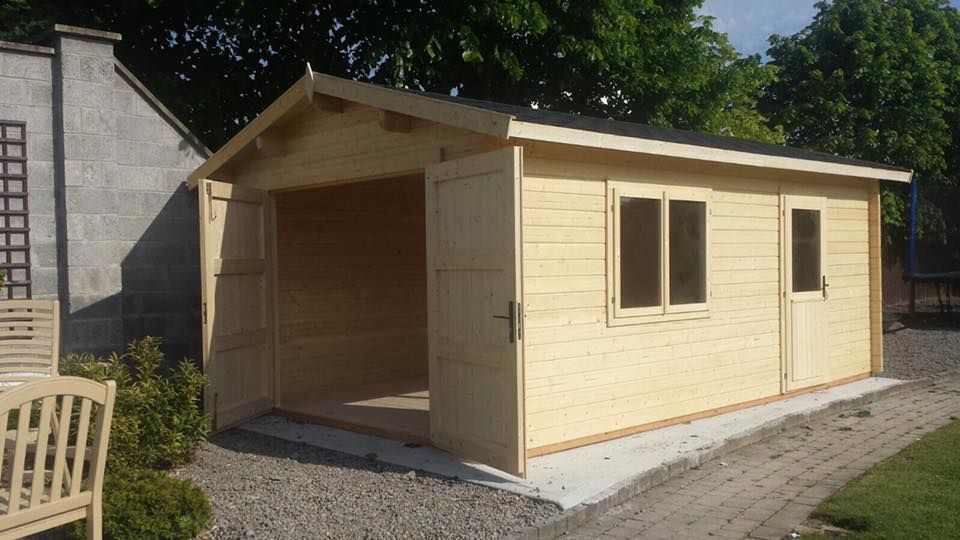 Luxury Log Cabin Shed Set Up In Ireland Log Cabins Less