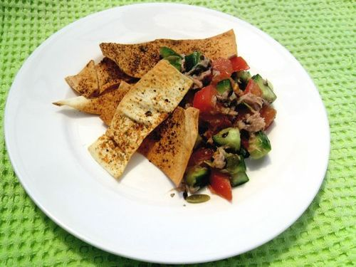 Tuna Salsa & Chilli Chips from Kate Mason   We're loving this zesty recipe for summer. It would be delicious with our Flaked Light Clover Leaf Tuna - Garlic and Hot Pepper, and our Chipotle or Jalapeno Gourmet Chunk White flavours too! Try at your next backyard gathering! #cannedtuna #quickrecipes