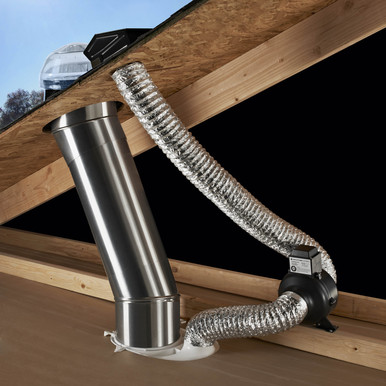 Solatube Ventilation Add On Kit To Vent Moisture From Your Bathroom Roof Vent Cap Sold Separately Roof Vents Roof Vent Cap Bathroom Ventilation