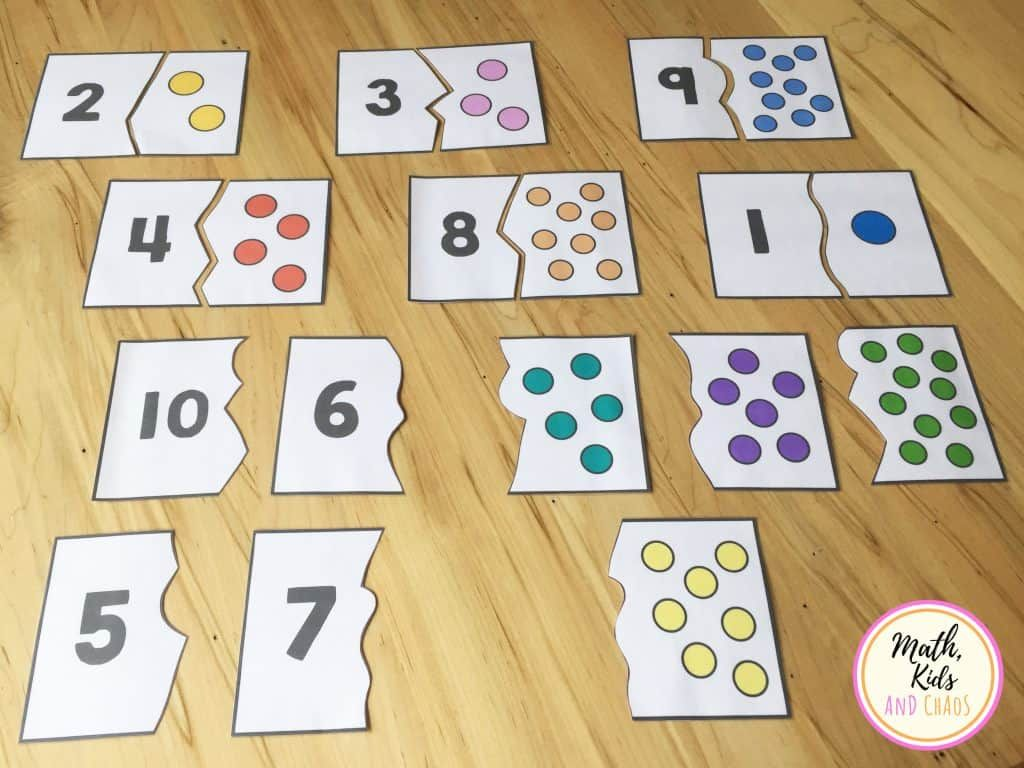 Preschool Number Puzzles For Numbers 1 To 10 Freebie