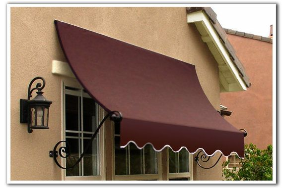 Charleston Scrolled Arm Awning For 3 Wide Window By Awntech Wide Windows