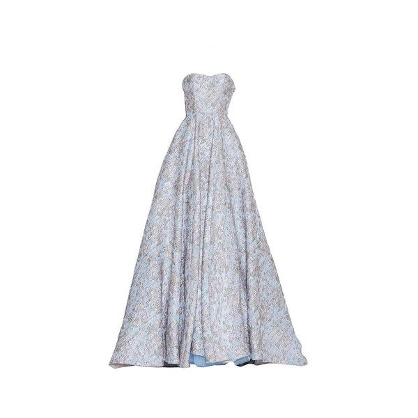 Luisa Beccaria Brocade Bustier Ball Gown ($14,450) ❤ liked on ...
