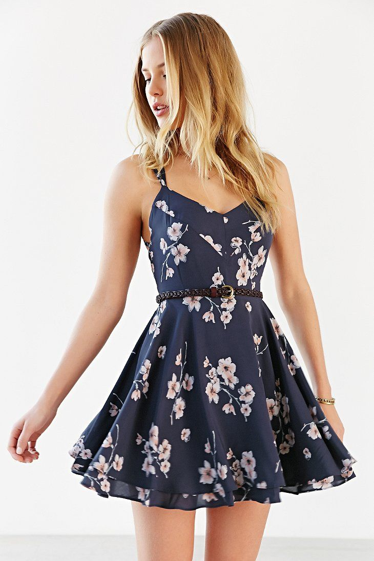 Kimchi blue scarlett fit flare dress urban outfitters cute