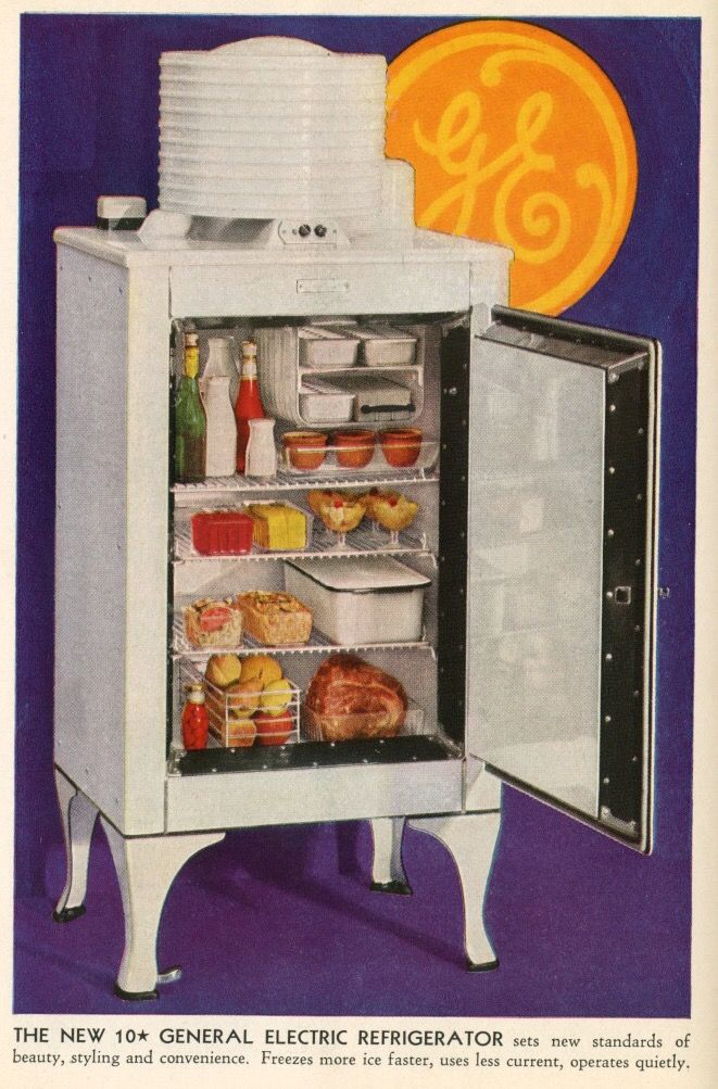 Ge Monitor Top Refrigerator 1936 Vintage Refrigerator Vintage Kitchen Appliances Vintage Appliances
