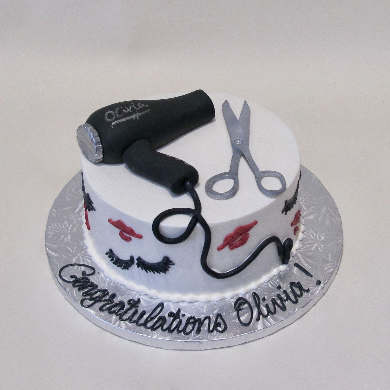 Beauty School Graduation 600114 Cosmetology cake