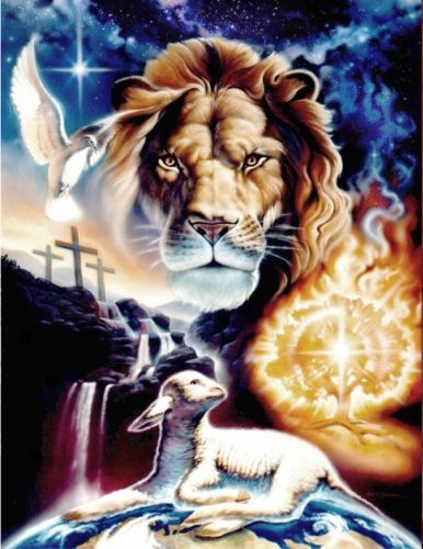 Revelation 5 12 Bible Art Biblical Art Lion And Lamb