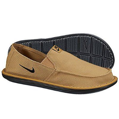 Nike Golf Solarsoft Grillroom Golf Shoes Men's Flat Gold/Black ...