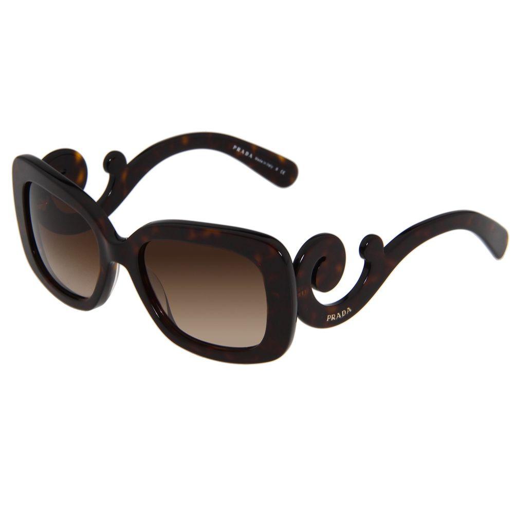 Prada Women's 'PR 27OS 2AU6S1' Tortoise Baroque Sunglasses   Overstock™ Shopping - Big Discounts on Prada Designer Sunglasses