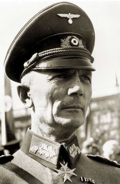 German general Fedor von Bock tops in the field: German general Fedor von Bock was a distinguished old-style Prussian officer who commanded the German Anschluss forces in 1938. In 1939 he commanded Army Group North during the Polish campaign and, in 1940, Army Group B during the Blitzkrieg that speedily overran the Low Countries and defeated France