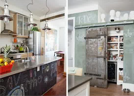 Kitchen, Chalkboard Kitchen Design Decor Renovation Kitchen Open