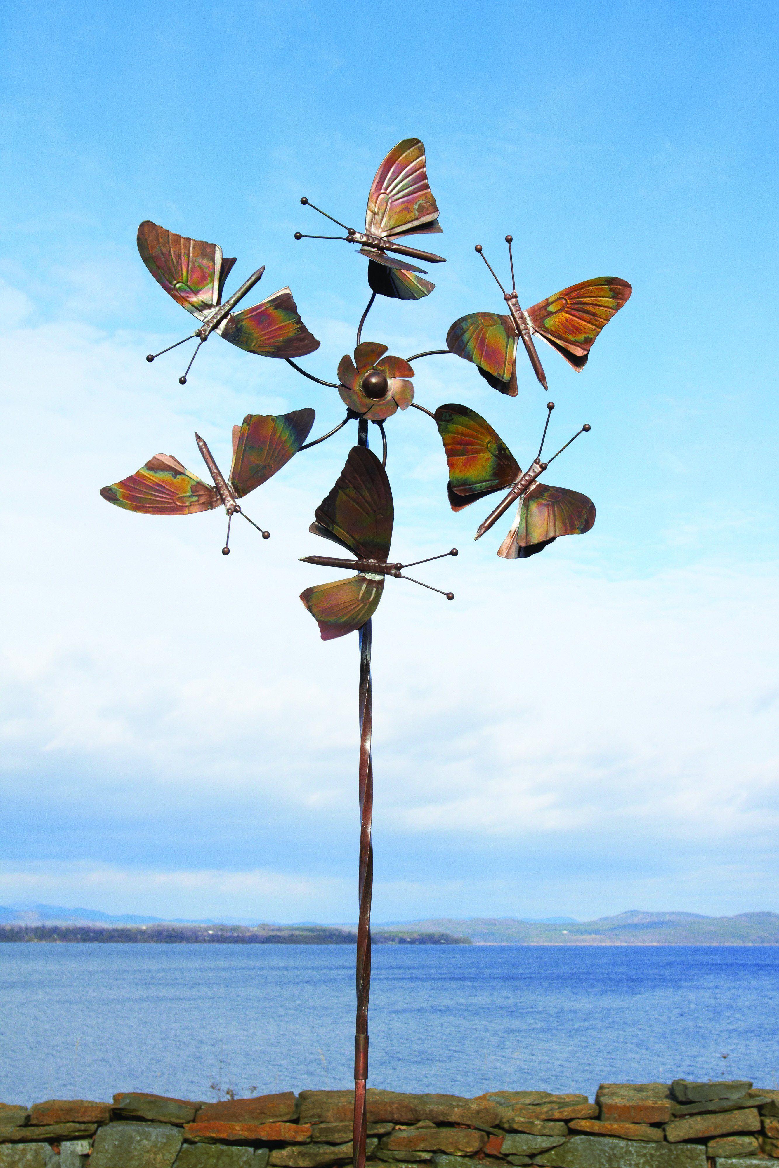 Flamed Erflies Spinner Garden Ornaments Lawn Wind Spinners Kinetic