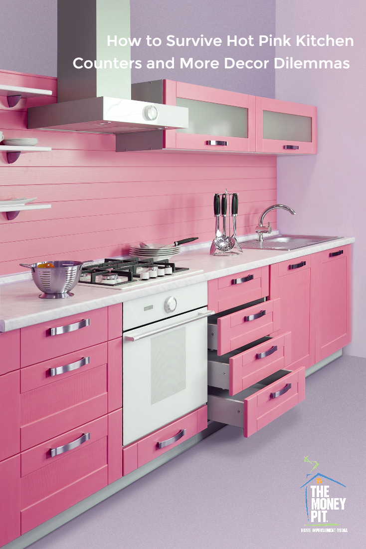 Pin By Ruby M On Love Is Home Hot Pink Kitchen Pink Kitchen Decor