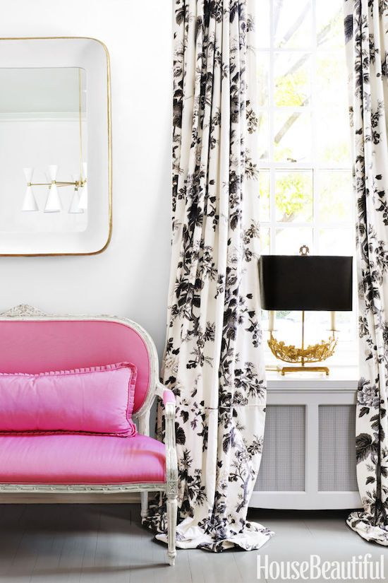 The Zhush Home Tour Pretty In Pink Dining Room Curtains Decor