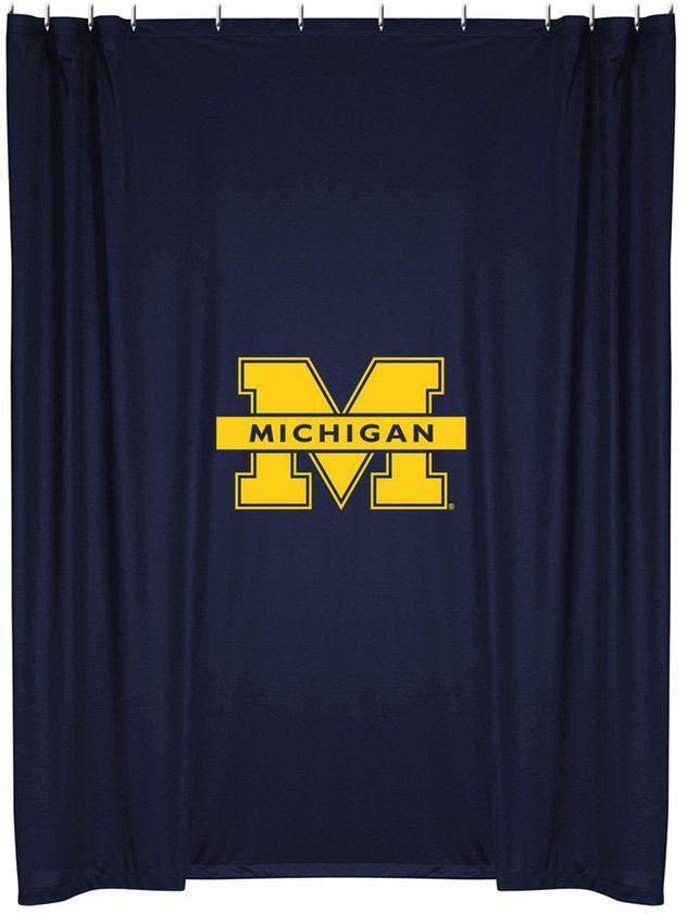Michigan Wolverines Shower Curtain Michigan Wolverines Michigan Sports
