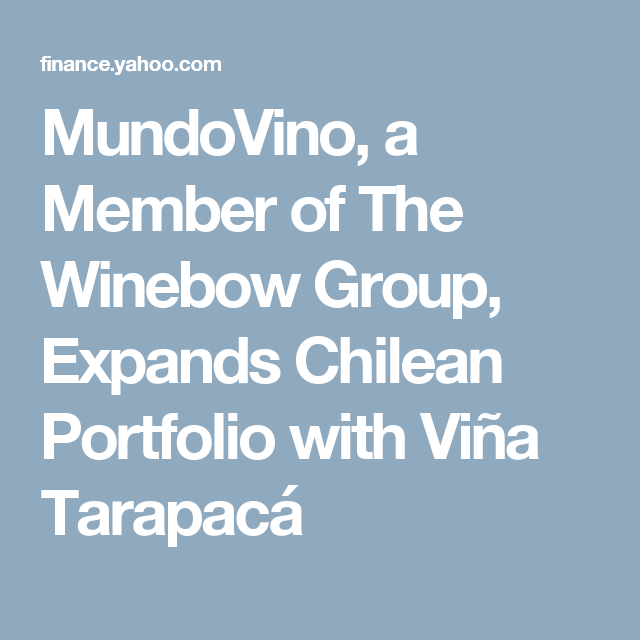 Prudential Stock Quote Mundovino A Member Of The Winebow Group Expands Chilean Portfolio .