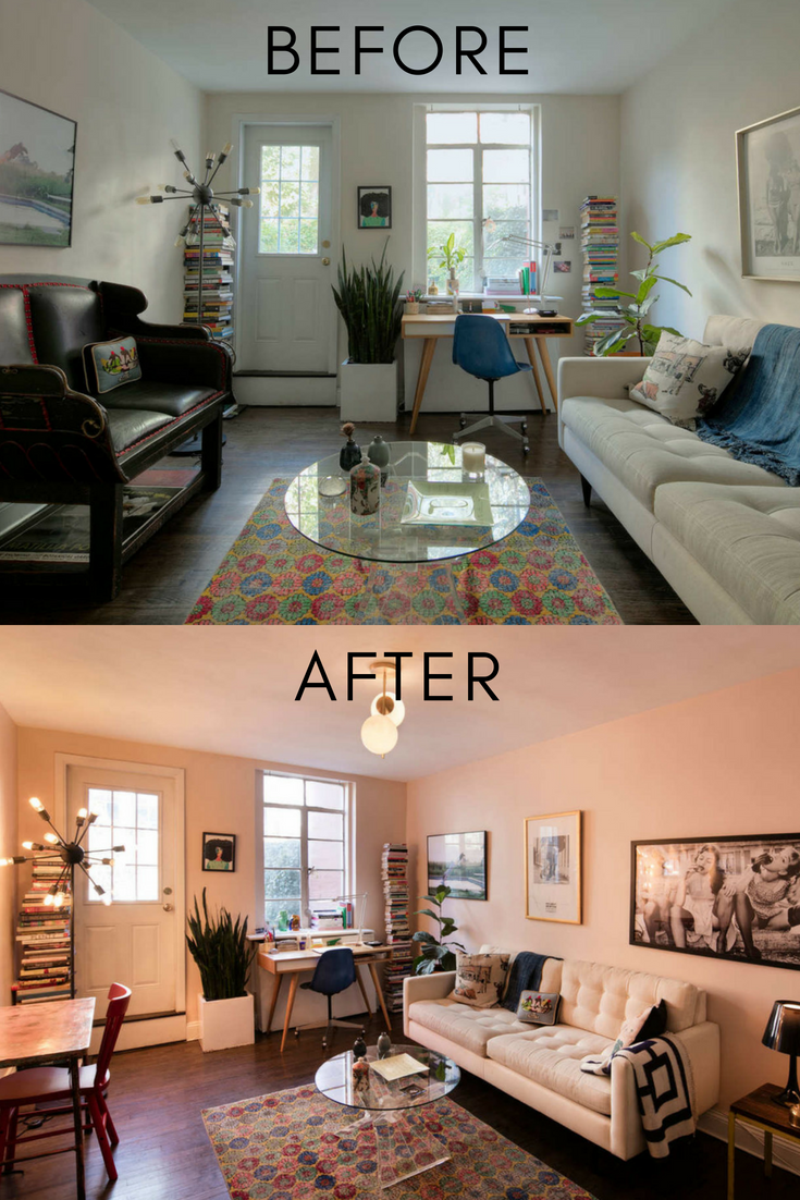 How I Rescued A Rental With Bad Light Apartment Living Room Living Room Lighting Living Room Transformation