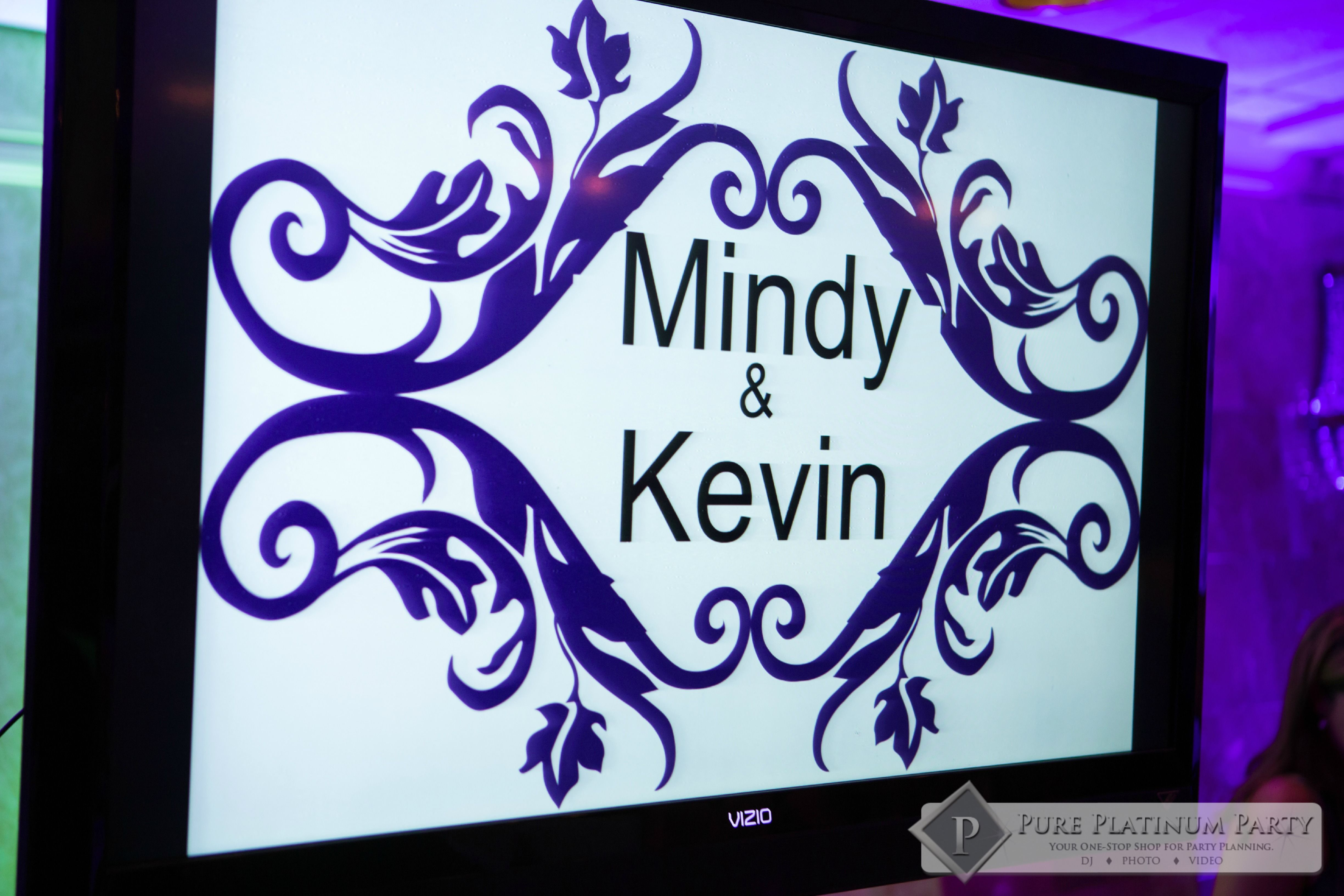 Mindy & Kevin #weddingdj #weddingentertainment #weddings #uplighting #pureplatinumparty #photobooths #WeddingEntertainment