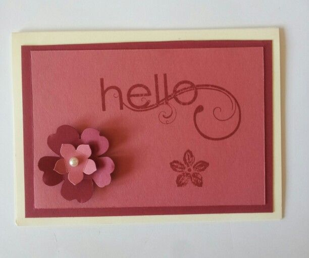 Hello mit Blumen, Kartenmaß: 10,5 * 14,5 cm mit Umschlag