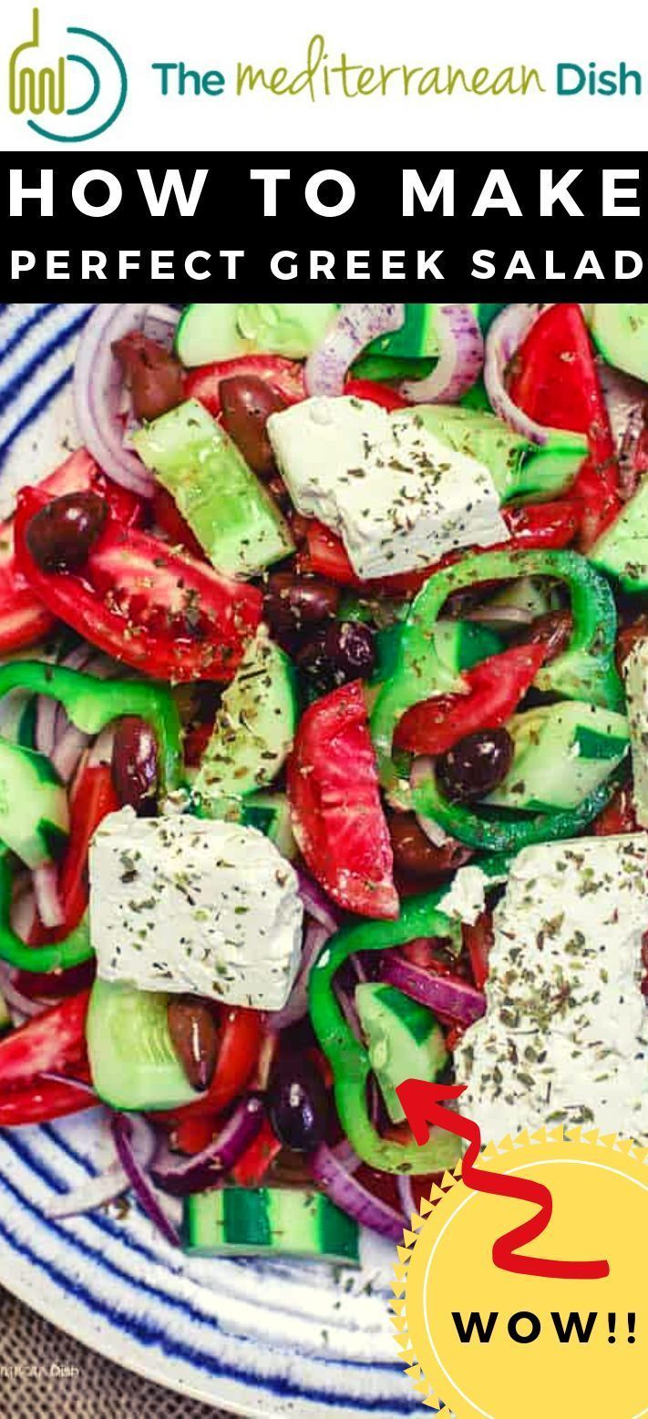 BEST Traditional Greek Salad Recipe (Video) | The Mediterranean Dish