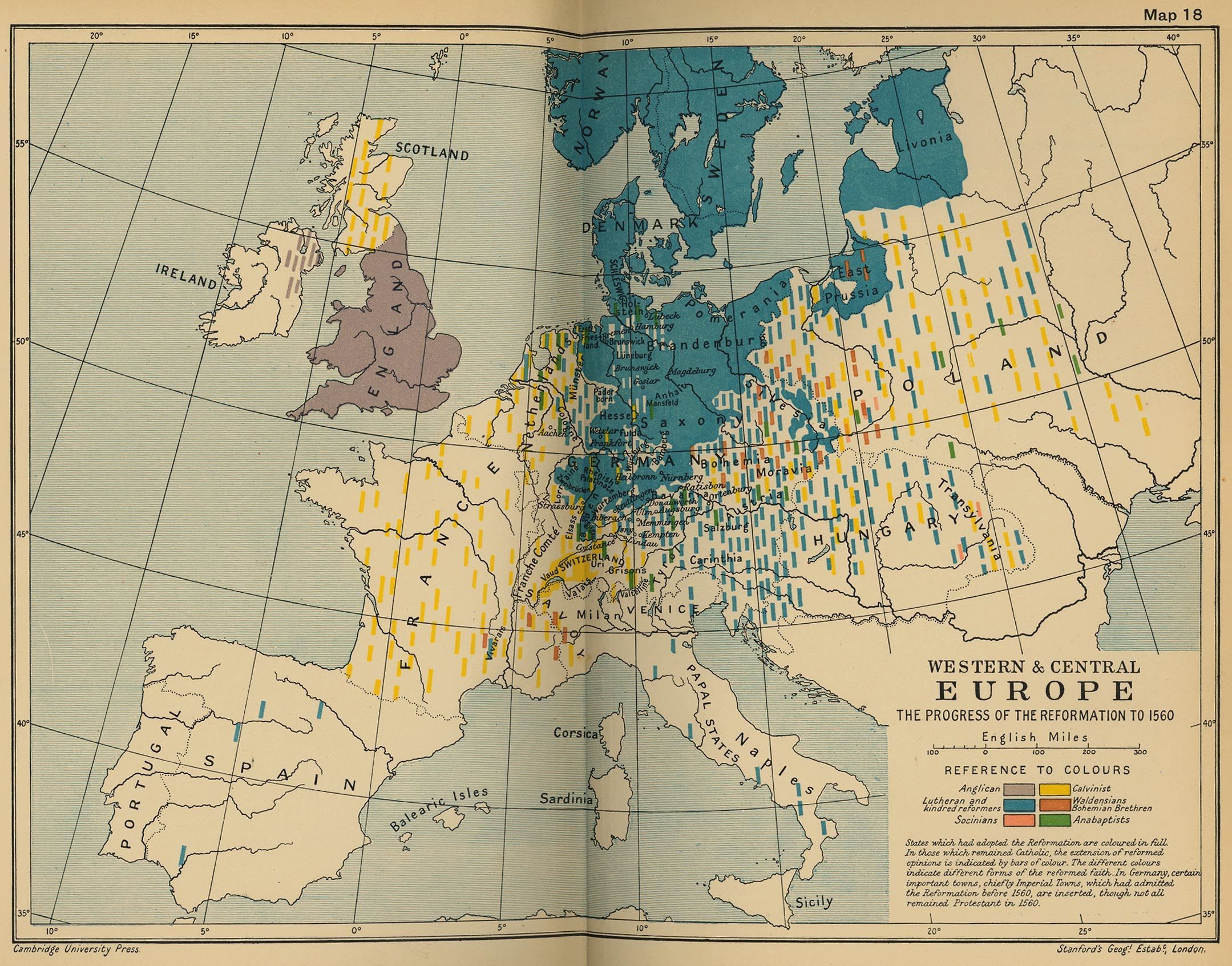 Map Of Western And Central Europe The Progress Of The - World map 1340 1600