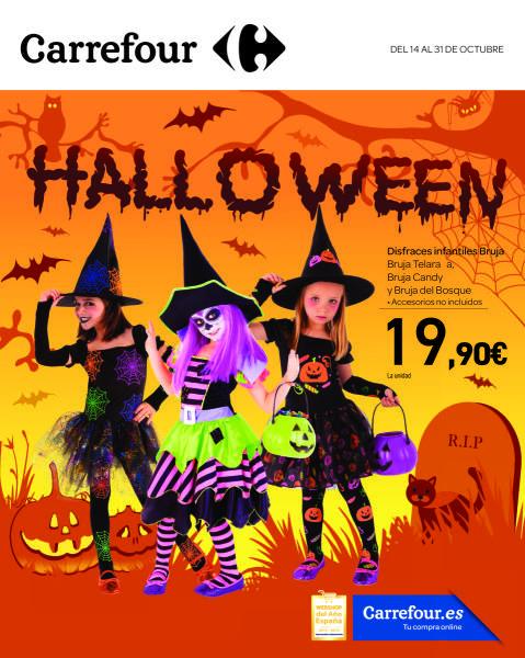 Folleto Carrefour Halloween Halloween disfraces