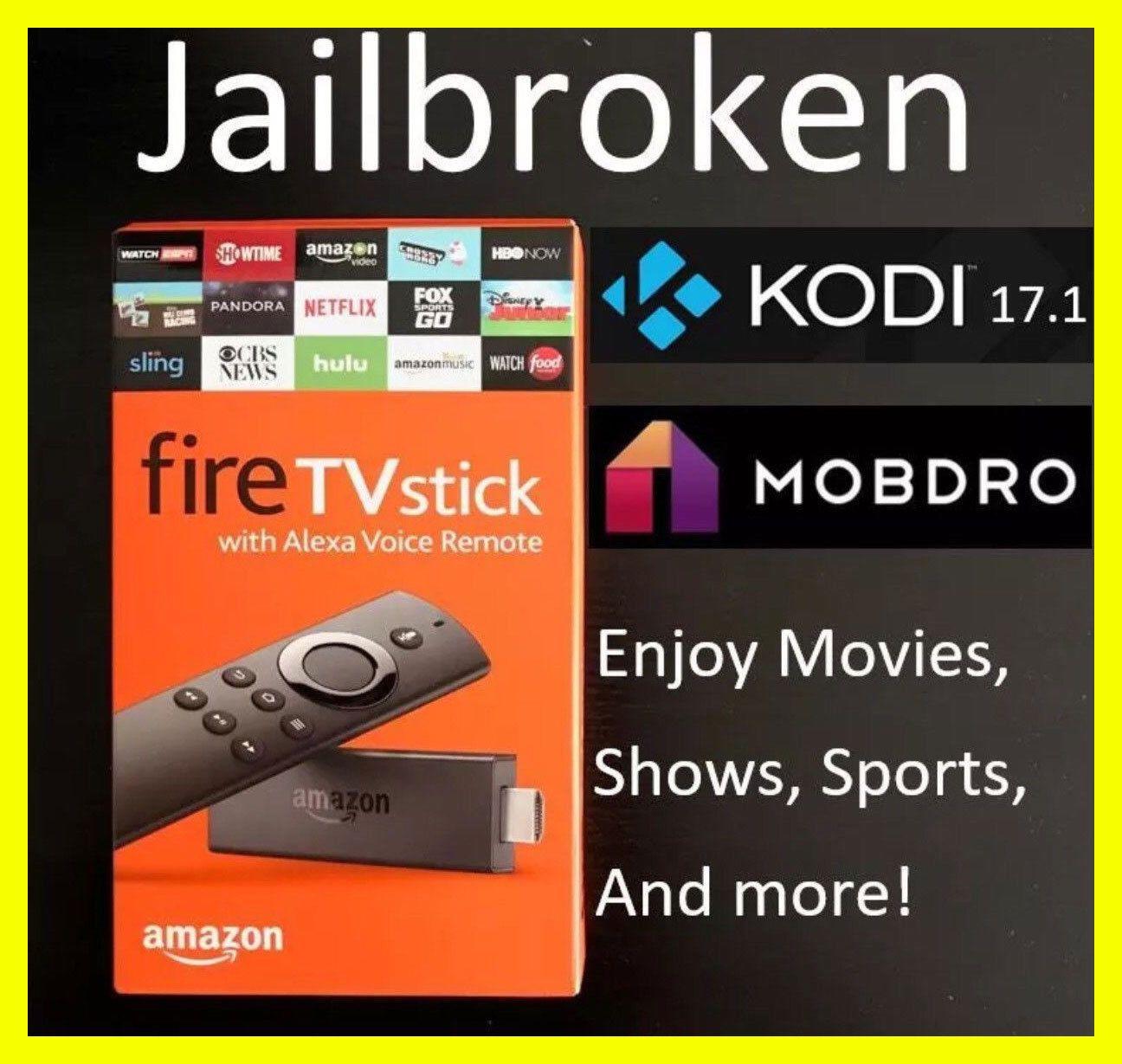 Jailbroken Fire Stick Unlocked w/Kodi 17.6🔥 Fully Loaded